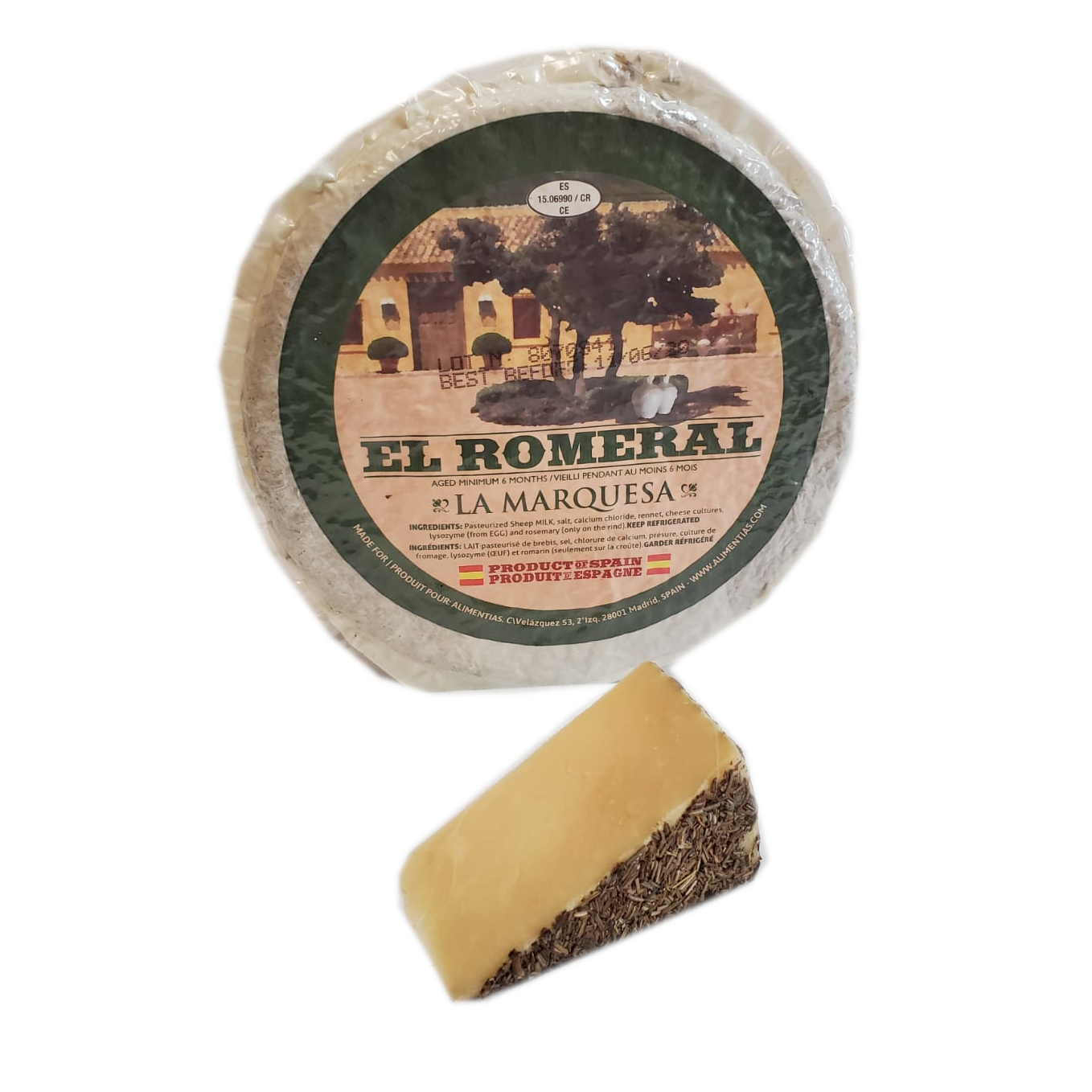 MANCHEGO WITH ROSEMARY AGED RM SPAIN